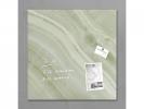 ,glasmagneetbord Sigel Artverum 480x480x15mm mineraal groen
