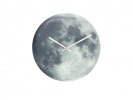 ,wandklok NeXtime dia. 30cm glas, lichtgevend, `Blue Moon`