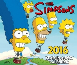 ADHESIVE The Official the Simpsons 2016 Desk Block Calendar