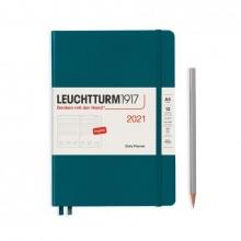 Lt362096 , Leuchtturm agenda 2021 a5 1 dag pp pacific green