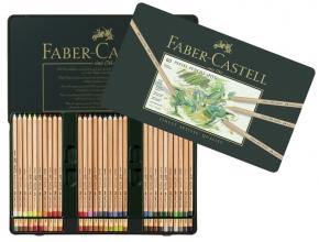 , pastelpotlood Faber-Castell Pitt metalen etui a 60 stuks