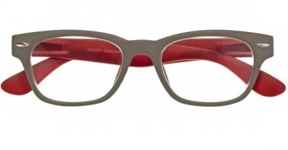 , Leesbril woody sel. g42100 grijs/rood 3.00