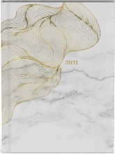 , Agenda 2021 10x15 wit met goud design