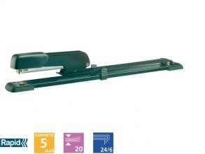 , Nietmachine Rapid E15 langarm 20vel 24/6 zwart
