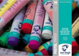 , Talens van gogh pastelblok a4 30 vel off white 160 gr
