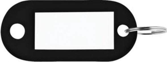 , Sleutellabel Pavo kunststof zwart