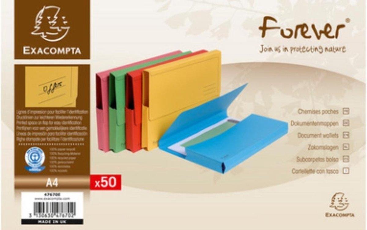 ,Pocketmap Exacompta Forever A4 290gr assorti