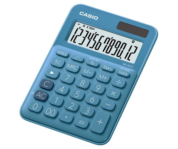 ,Rekenmachine Casio MS-20UC blauw