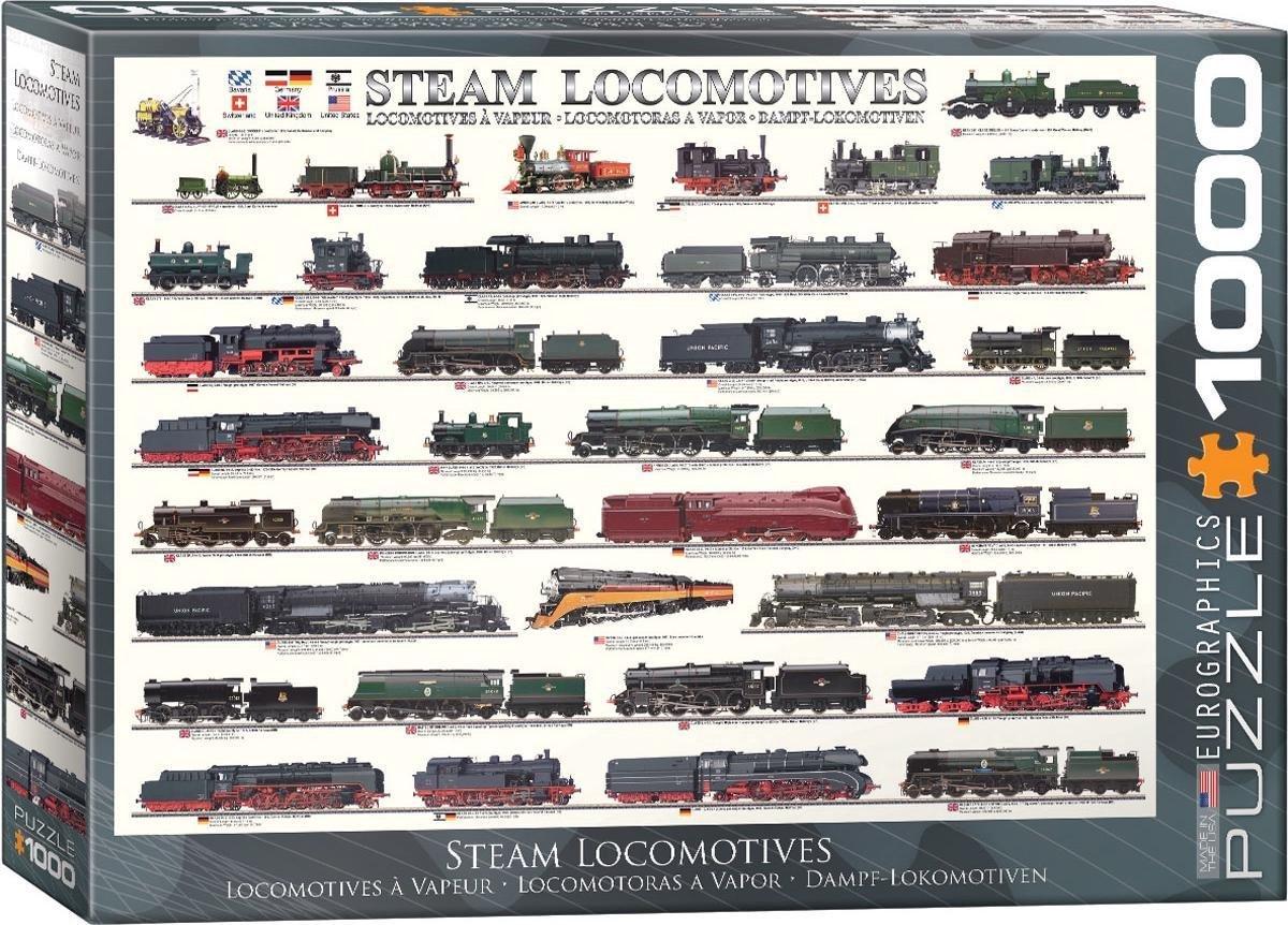 Eur-6000-0090,Puzzel eurograpics steam locomotives 1000 stukjes