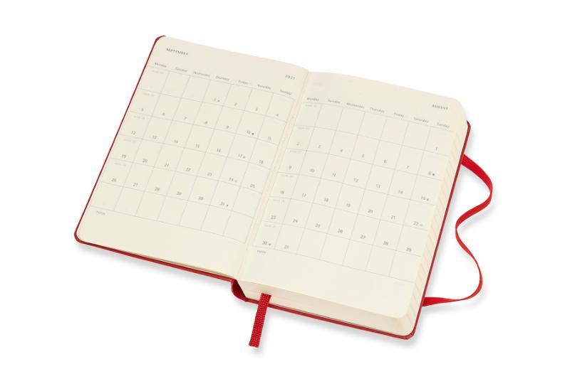 ,Moleskine 12 MND Agenda - 2021 - Dagelijks - Pocket (9x14 cm) - Scarlet Rood - Harde Kaft