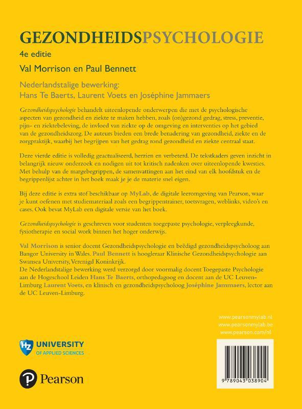 Val Morrison, Paul Bennett,Gezondheidspsychologie