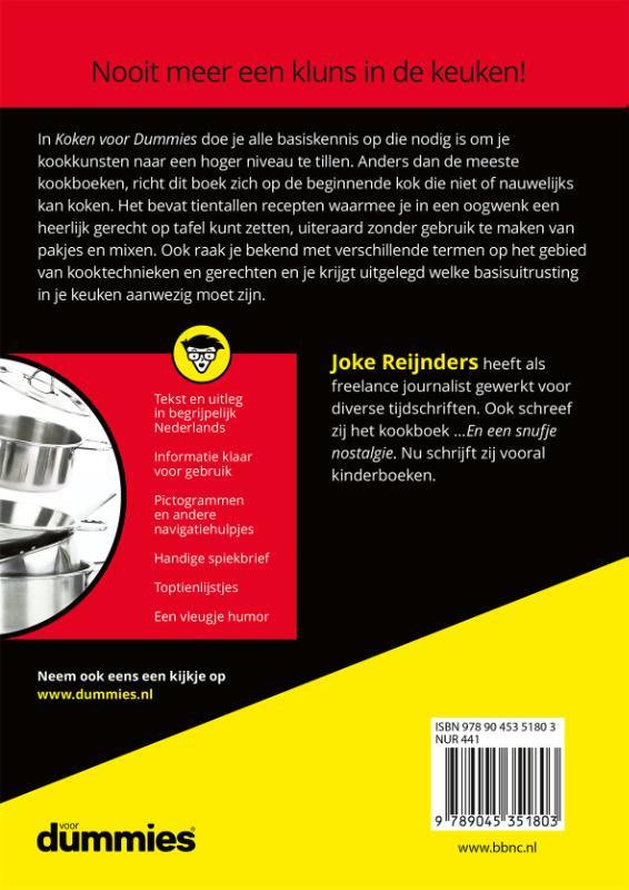 Joke  Reijnders,Koken voor Dummies