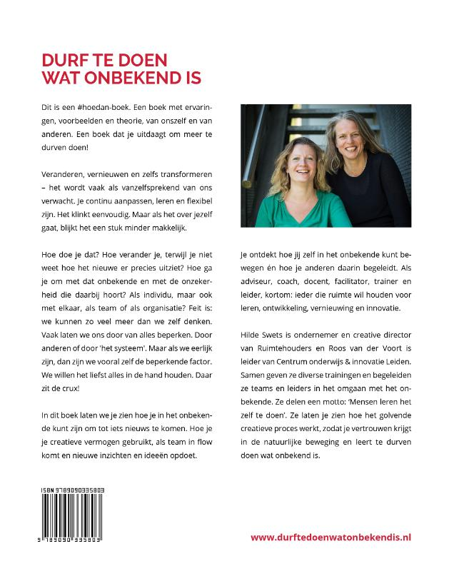 Hilde Swets, Roos van der Voort,Durf te doen wat onbekend is