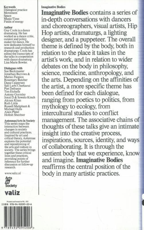 Guy Cools, Alain Platel, Sidi Larbi Cherkaoui, Rosemary Butcher,Imaginative bodies