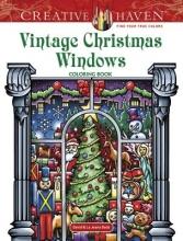 David Bodo Creative Haven Vintage Christmas Windows Coloring Book