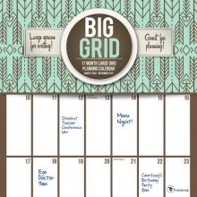 Big Grid Design 17 Month 2017 Calendar