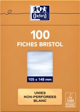 , Flashcard Oxford 105x148mm 100vel 210gr blanco wit