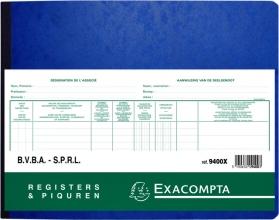 , Register Piqure aandeelhouder BVBA/ SPRL 320x250mm 80vel groen