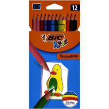 , Kleurpotloden Bic Kids Tropicolors blister à 12 stuks