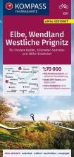 , KOMPASS Fahrradkarte Elbe, Wendland, Westliche Prignitz 1:70.000, FK 3321