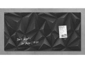 , glasmagneetbord Sigel Artverum 910x460x15mm Black Diamond