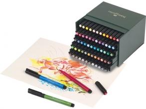 , tekenstift Faber-Castell Pitt Artist Pen Brush studiobox 60 stuks