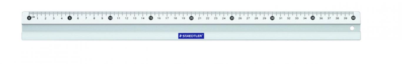 , Liniaal Staedtler 563 400mm aluminium