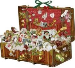 Nostalgischer Weihnachtskoffer Adventskalender