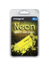 , USB-stick 2.0 Integral 16Gb neon geel