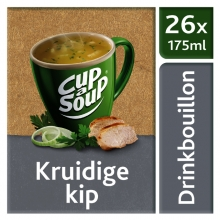 , Cup-a-soup heldere bouillon kruidige kip 26 zakjes