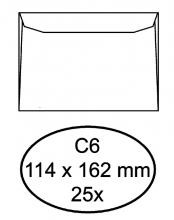 , Envelop Quantore bank C6 114x162mm wit 25stuks