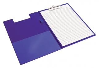 , Klembordmap Quantore A4 blauw met 100mm klem + penlus