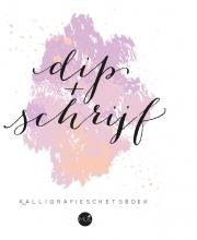 , Dip & schrijf kalligrafieschetsboek
