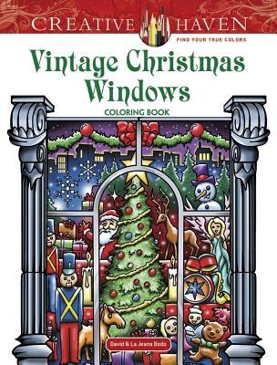 David Bodo,Creative Haven Vintage Christmas Windows Coloring Book