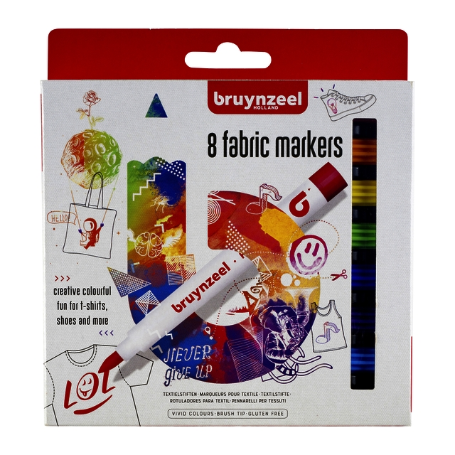 ,Viltstift Bruynzeel textiel assorti