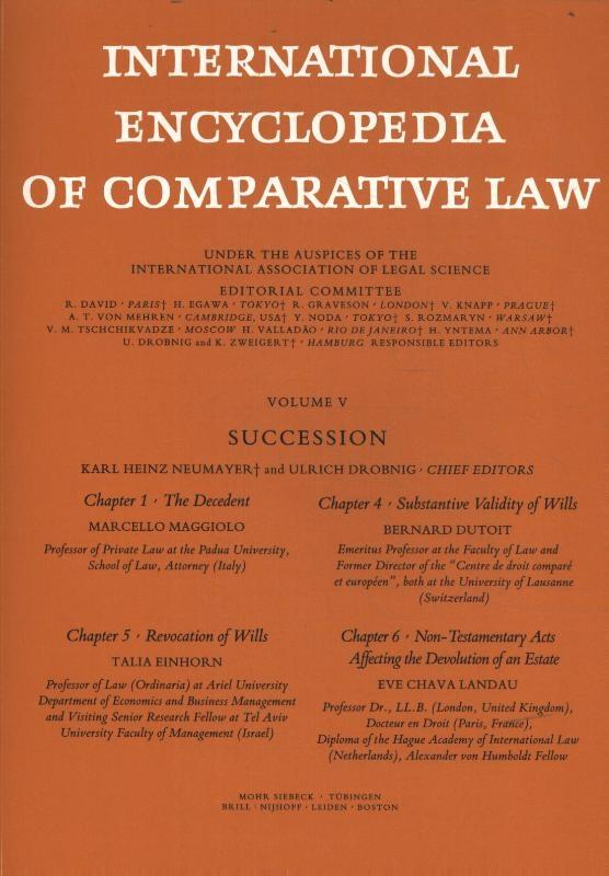 ,International Encyclopedia of Comparative Law