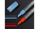 ,krijtmarker Sigel beitelpunt 1-5mm blauw
