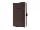 ,notitieboek Sigel Conceptum Pure hardcover A5 bruin geruit