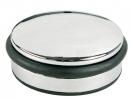 ,deurstopper Alco metaal laag chroom, 1300 gram hoog 4cm