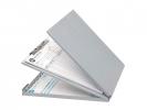 ,klembord Westcott met opbergvak aluminium A4 (9`x 12`)      gesloten