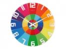 ,Wandklok NeXtime dia. 43 cm, glas, colour, `Rainbow`