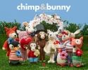 Anne-Claire  Petit,Chimp en Bunny, Anne-Claire Petit, Blokboek, luxe uitgave met stickers