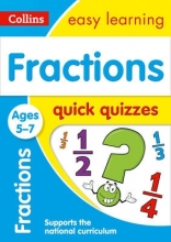 Collins Easy Learning Fractions Quick Quizzes Ages 5-7