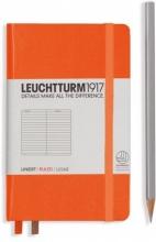 Lt342930 , Leuchtturm notitieboek pocket 90x150 lijn oranje