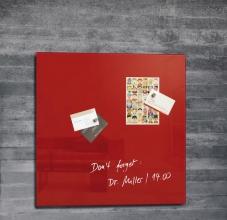 , glasmagneetbord Sigel Artverum 480x480x15mm rood