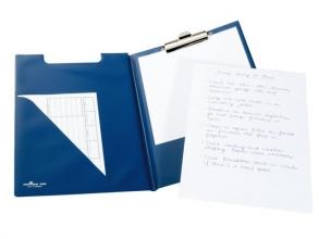 , Klembordmap Durable 2355 met kopklem en insteek blauw