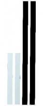 , wandlijst Alco 100x5cm zelfklevend doos a 10 stuks wit
