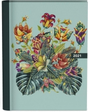 , Agenda 2021 spiraal 10x15 bloemen