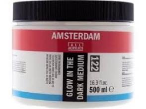 , Talens amsterdam acrylmedium glow in the dark 500ml 122