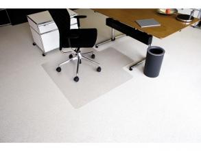 , vloermat Kangaro voor tapijt 120 x 130 cm lip korte zijde   transparant PET 2,1mm/nop 2,1